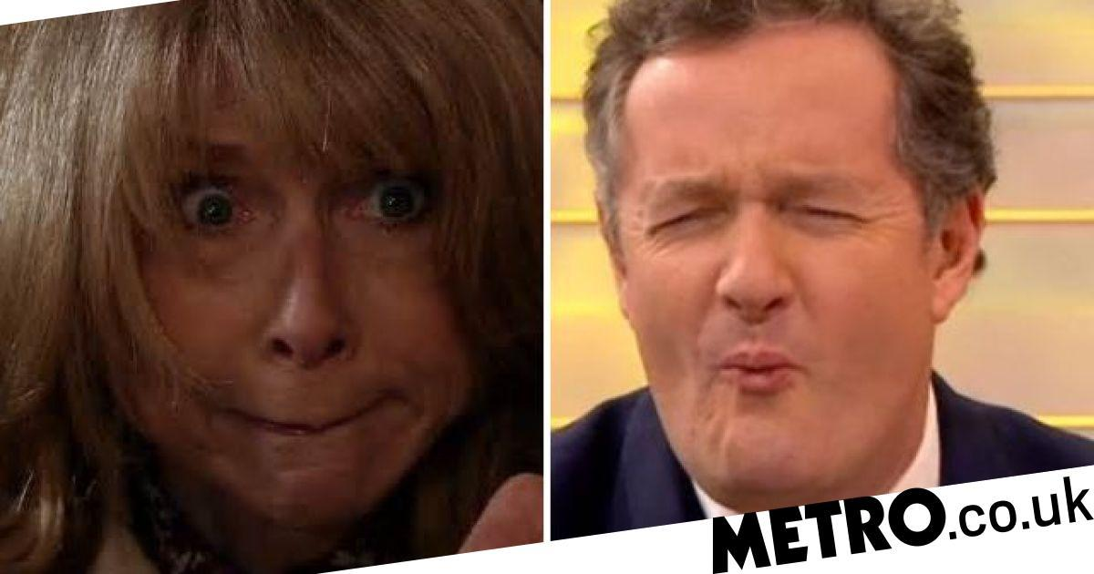 Piers Morgan is living in fear of an axe attack from Corrie's Gail