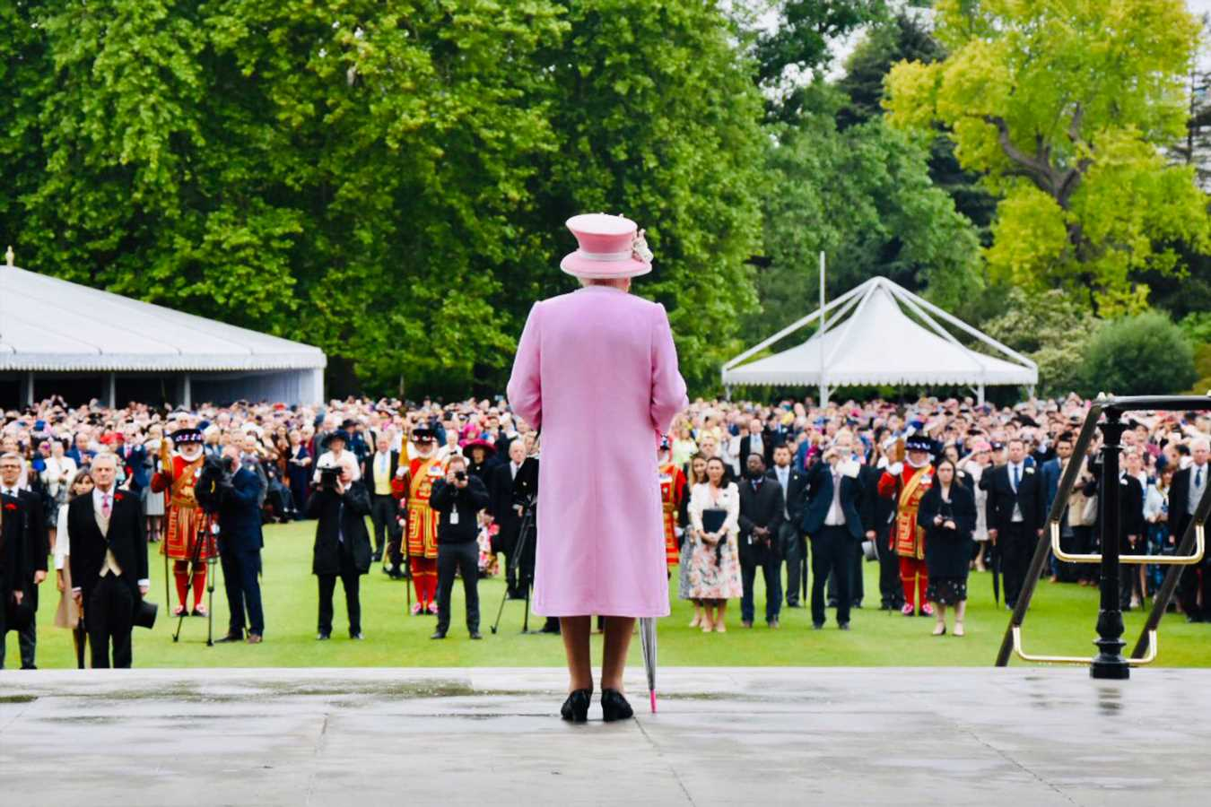 See Rare View of Queen Elizabeth's Perspective in Arresting Photo at Palace Garden Party